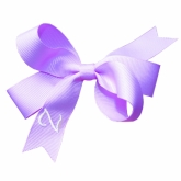 Lilac Monogrammed Initial Ribbon Bow